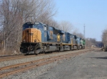 CSX Light power rolls east towards its destination of South Kearny